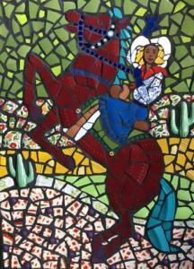 Cowgirl by Jane Kelly Mosaics